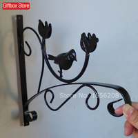 Wrought Iron Wall Hanging Shelf Outdoor Balcony Hanging Basket Flower Pot Hanger Hook Flower Pot Hanging