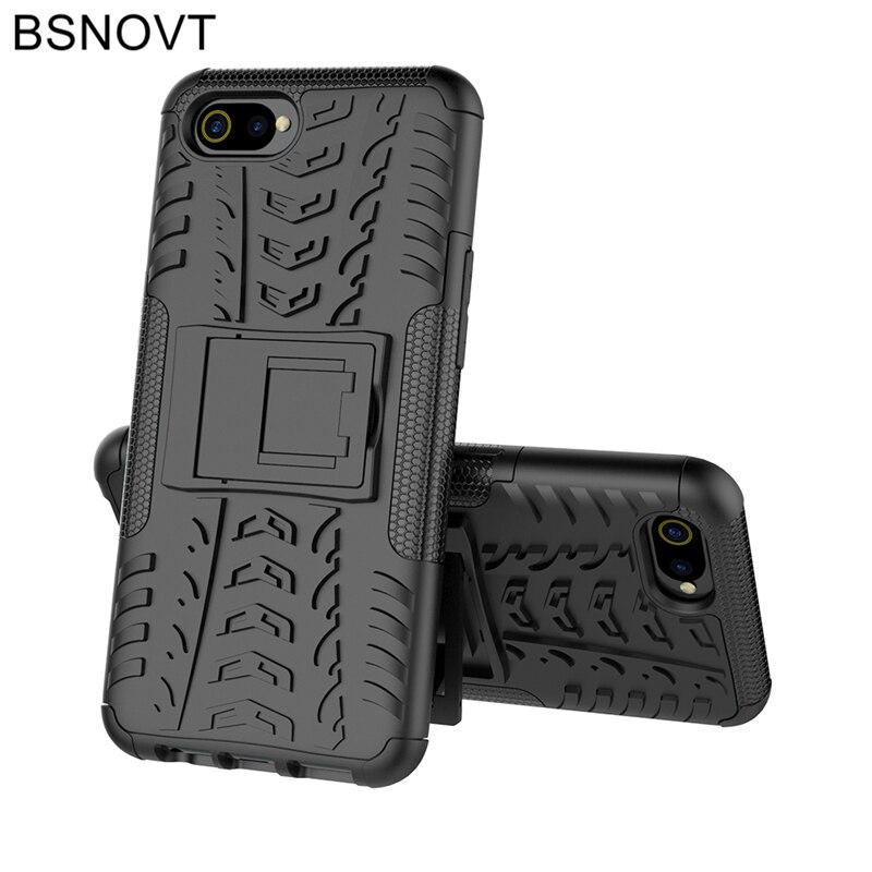 For Oppo A1K Case Silicone + Plastic Kickstand Phone Holder Case For Oppo A1K Cover For Oppo A1K Case CPH1923 Funda 6.1
