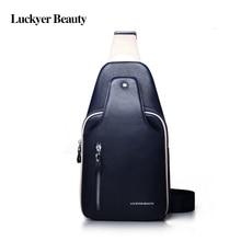 hot deal buy luckyer beauty casual shoulder bags for men chest bag rucksack crossbody bags multipurpose hasp zipper design sling shoulder bag