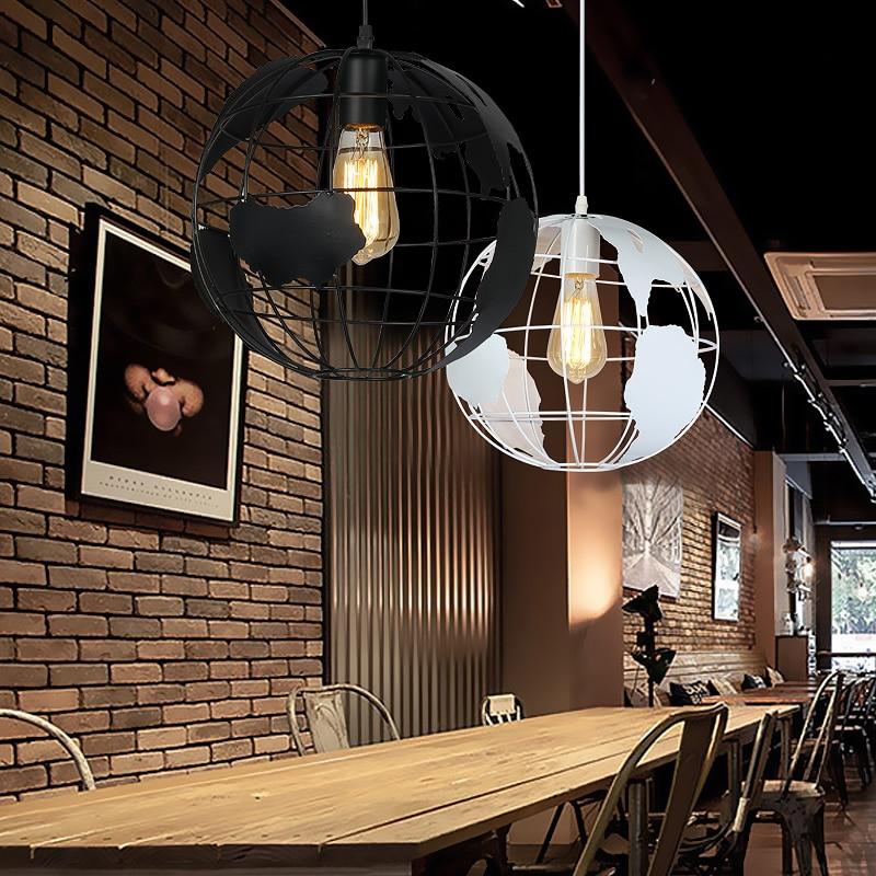 Retro industry pendant lamps iron globe coffee bar art hall pendant light creative  GY170