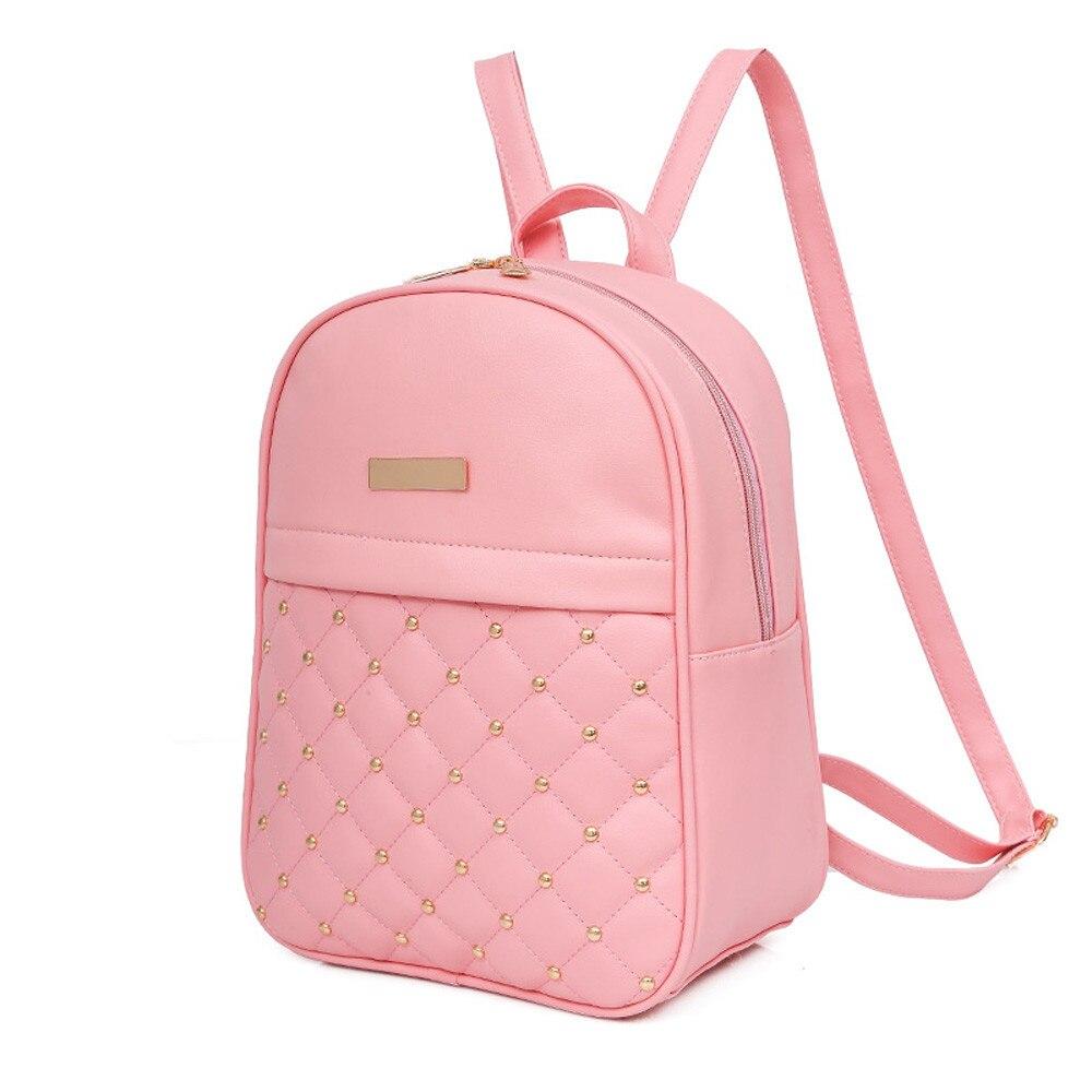 HTB1ENaKLNTpK1RjSZFKq6y2wXXaR OCARDIAN Woman packet Fashion Causal Bags Bead Female Shoulder Bag Backpacks Women Rivet Backpack dropship 19M12