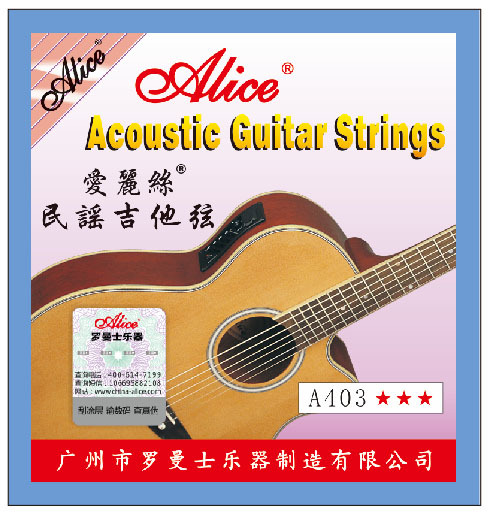 Alice A403L Light Acoustic Guitar Strings Coated Copper Alloy Wound Strings