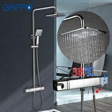 Гаппо смесители для душа Термостатический осадки душевой набор, ванная постоянная температура смесители душ система
