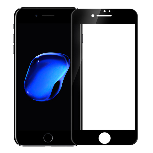 2.5d arco 0.23mm totalmente cubierta cp + anti-explosión de cristal templado protector de pantalla de nillkin para el iphone 7 plus templado (5.5 pulgadas)