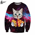 2017 the cat com pizza 3d impresso camisola do estilo harajuku pullover sudaderas mujer juventude moda feminina agasalho f1328