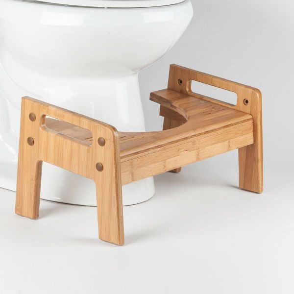 Могучий роскошный регулируемый по высоте массаж ног Squatty горшок натуральный бамбук Туалет стул для вашей ванной потрясающий дизайн