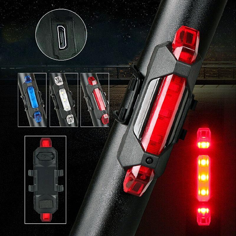 Портативный USB Перезаряжаемые велосипед Велосипедный Спорт хвост сзади Детская безопасность Предупреждение задний фонарь лампа супер яркий 88 b2cshop