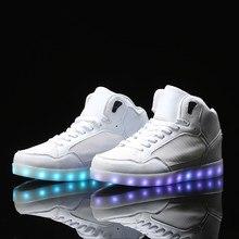 Haute top led Chaussures hommes nmd led Lumineux Light Up jordon chaussures superstar néon panier Sneaker Bottes plat maille Chaude De Mode casual