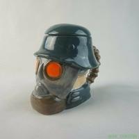 Armia Żołnierz Maski Gazowe Projekt Kreatywny Ceramiczne Kubki Z Pokrywką II Wojna Światowa Kask Memorial Cup