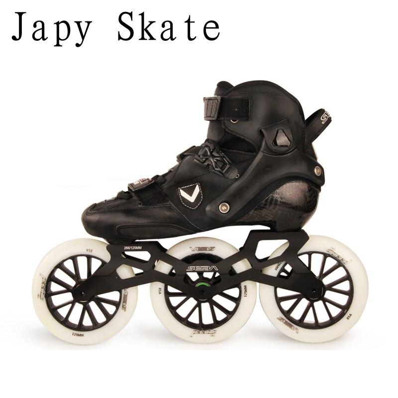 Japy Skate Original SEBA Marathon Inline Skates 3*125mm 4*110mm Speed Carbon Fiber Adult Roller Skating Shoes Racing Patines цена