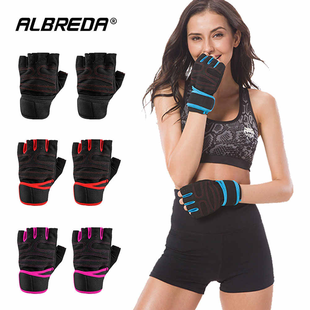 Anti-Slip weightlifting Gloves Gym Fitness gloves Exercise Training wrist strap protection Hand support for Dumbbell Barbell