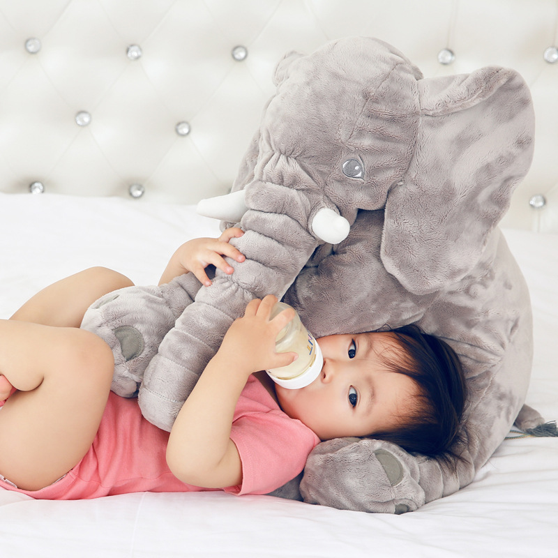 Rosiky 40cm Fashion Baby Animal Plush Elephant Doll Stuffed Elephant Plush Kids Toy Children Room Bed Sleeping Pillow