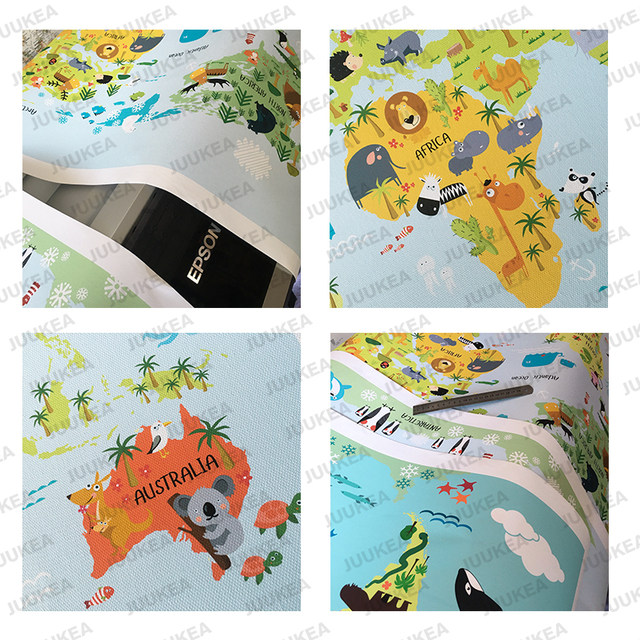 Online shop nordic children kawaii cartoon animals world map canvas online shop nordic children kawaii cartoon animals world map canvas print painting poster wall pictures for kids room home decor aliexpress mobile gumiabroncs Choice Image