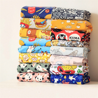 Free Shipping 50x145cm Patchwork Canvas Sewing Fabric Cartoon Toy Linen Fabric Tissue Kids Home Textile School