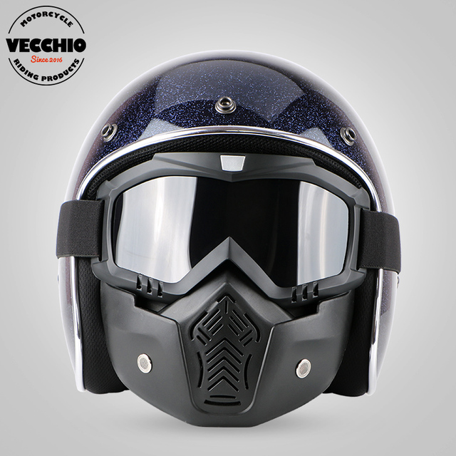 moto vintage casque en fiber de verre jet r tro open face casque moto motocross scooter casque. Black Bedroom Furniture Sets. Home Design Ideas