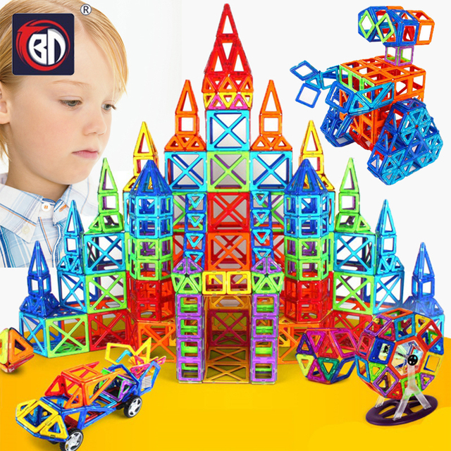 BD 78-252pcs Magnetic Designer Construction Set Model & Building Toy Plastic Magnetic Blocks Educational Toys For Kids Gifts