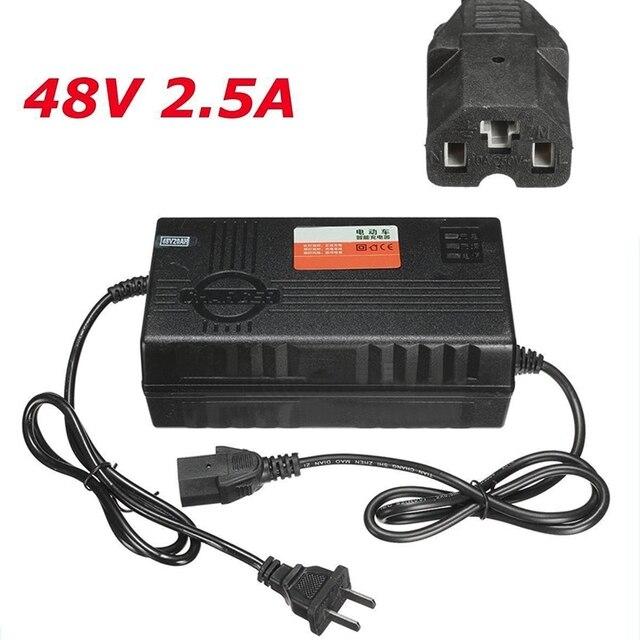 haute qualit 48 v amp res 20ah batterie chargeur adaptateur avec prise pour voiture lectrique. Black Bedroom Furniture Sets. Home Design Ideas