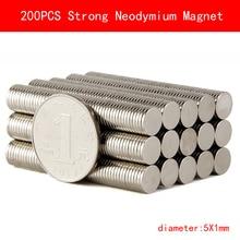 200PCS Strong Magnets diameter 5mm x 1mm Neodymium Magnet Rare Earth Magnet цена в Москве и Питере