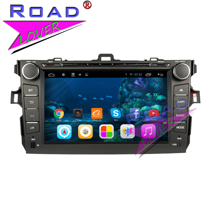 TOPNAVI 2G+32GB Quad Core Android 6.0 Car Media Center DVD Player For Toyota Corolla 2006-2011 Stereo GPS Navigation 2Din MP3