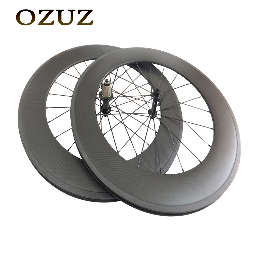 Duty Free Bike Carbon Wheel 88mm Clincher Tubular Carbon Road wheel Powerway R13 Hubs 700C Powerway R13 Road Cycling Wheel цены