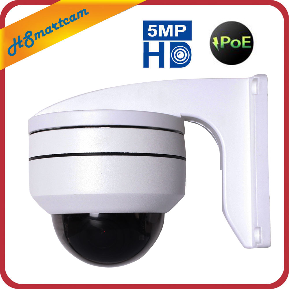 CCTV Outdoor Security 5MP MINI Dome PTZ Camera 4X ZOOM POE IP Camera Night Vision 50m With For 48V POE NVR ONVIF P2P Mobile View image