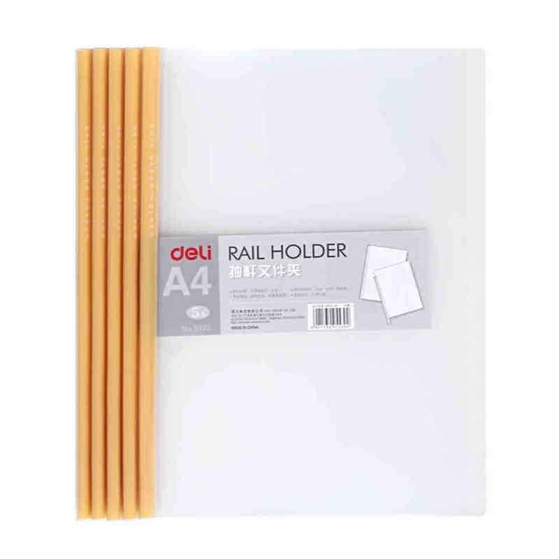 Stationery A4 Joystick Folder 5530 Clear Folder Plastic  Joystick CLIP  5pcs/pack File Organizer  Stationery Office Supplies