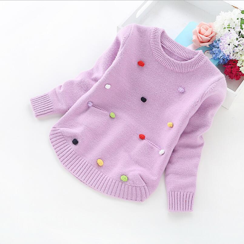 Children Clothes 2019 Spring Fall Winter Long Sleeve Knitted Pullovers Girls Sweater Tops Baby Toddler Kids Pullover Sweaters