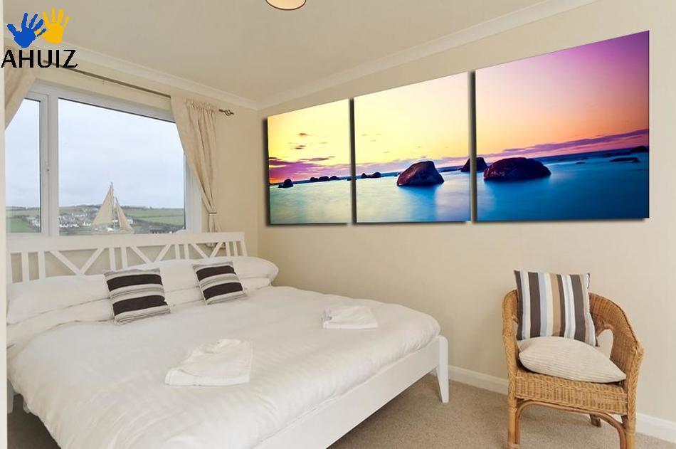 Sin marco 3 Unids Grande HD Vista Al Mar Con piedra mejor Lienzo ...