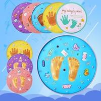 Baby Handprint Footprint Clay Kit Imprint Non toxic Baby DIY Suit Souvenir Fingerprint Fetal Hair Printing Newborn Toy Souvenir
