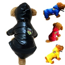 Dog Down Winter Warm Pet Clothes Waterproof Coat Thickening Light-weight Four Legs Hoodie Jacket Clothing For Puppy W1