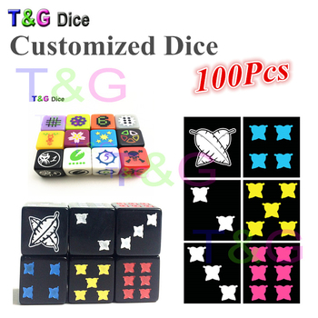 T&G 16mm Customized D6 Dice Personalized Logo!Customize High Quality Dice/Die,Printed,Engraved Logo Specially for Board Game