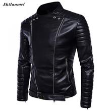 Winter Faux Leather Jacket Men PU Black Men's Motorcycle Jacket with Belt Zipper Mandarin Collar Male Jackets Thick Coats 5XL