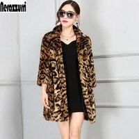 Nerazzurri Luxury Faux Fur Jacket Women 2017 Winter Leopard Coat Oversized Furry Fluffy Fake Fur Coats Plus Size 4XL 5XL 6XL 7XL