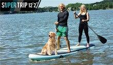 2016 grandes más barato Fusión 12'20 Levántese el Tablero de Paleta Inflable tabla de Surf incluyen bolsa de parche de reparación de bomba de inflado