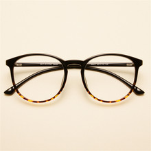 Gafas transparentes redondas TR90 para hombre y mujer, anteojos con montura óptica, ultraliviana, graduadas, 643