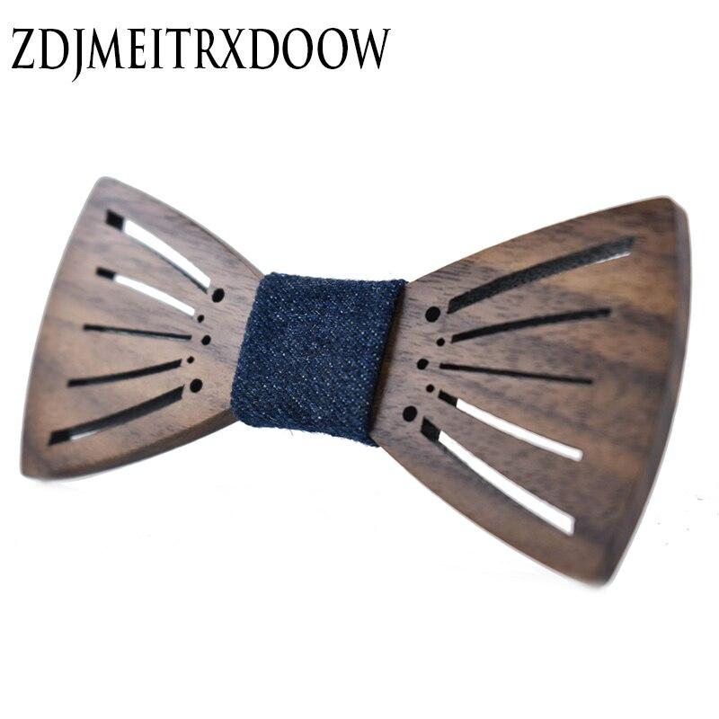 2017 Neue Ankunft Carving Engelsflügel Holz Fliege Zubehör Kreative Holz Schmetterling Mens Krawatte 3 Style Fortgeschrittene Technologie üBernehmen