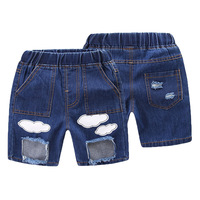 Mioigee Trẻ Em Quần Short Jeans 2018 Mùa Hè Baby Trai Thời Trang Casual Thiết Kế Rỗng Jeans Trẻ Em của Quần Short cho Bé Trai Toddler Quần Short