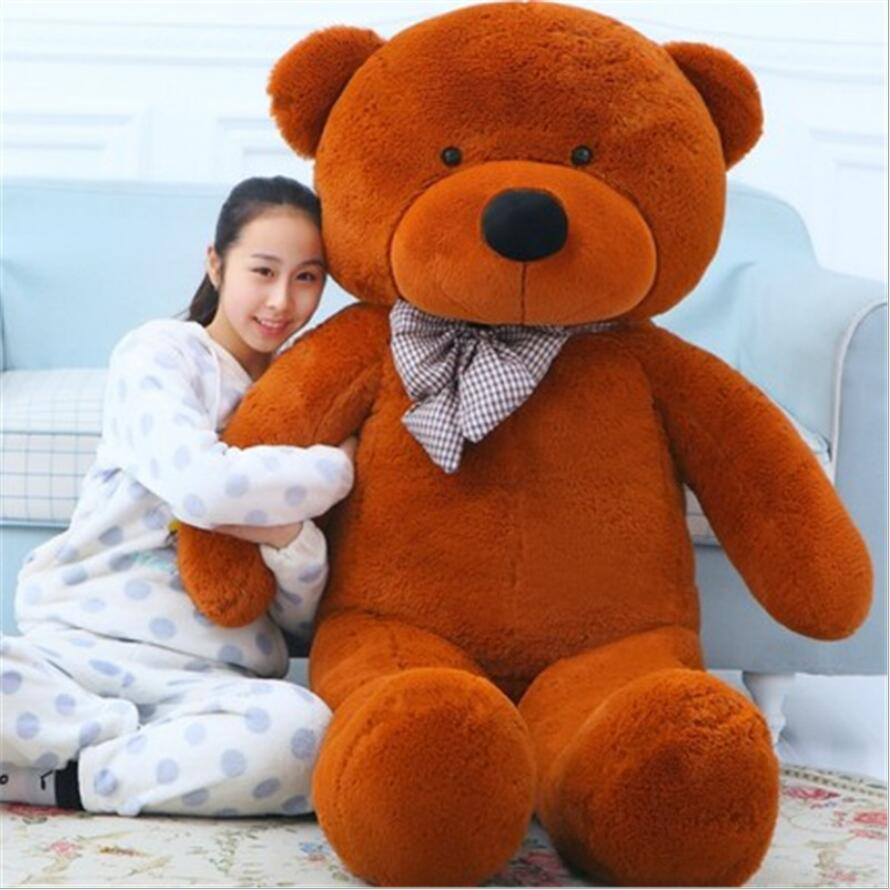 Big Teddy Bear Stuffed Toys the Straight Length 120CM Life size Teddy Bear Giant Stuffed Bear Toys for Girls Birthday Gift teddy bear big bear doll white bear plush toys birthday gift life size teddy bear soft toy