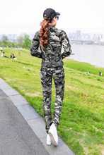 2015 New Comes Spring Style Casual Fashion Cotton Polo Neck Joint Zipper Camouflage Women Coat Uniform Clothing H3878