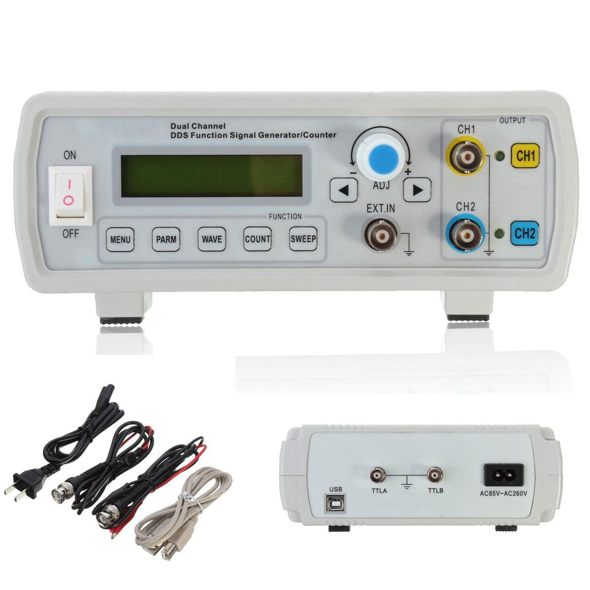 ZEAST 2 mhz Dual Channel DDS Fonction Signal Générateur Sine Onde Carrée Balayage Compteur Fréquence Gamme 1 hz-60 mhz avec 3 Câbles