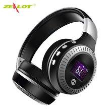 ZEALOT B19 Wireless Bluetooth Headphone LCD Display HiFi Bass Stereo Earphone Headset With Mic FM Radio Micro-SD TF Card Slot