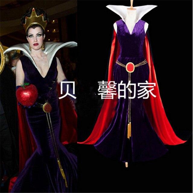 Snow White Evil Queen Luxury Dress Adult Women's Carnival Anime Cosplay  Costume Custom Made Snow White