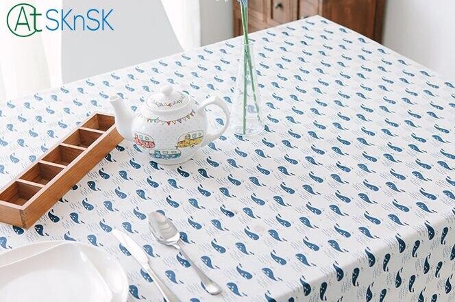 Модный стиль белый и синий журнальный столик ткань КИТ печатных скатерть украшения дома кружевной Хлопковый Край постельное белье скатерт...