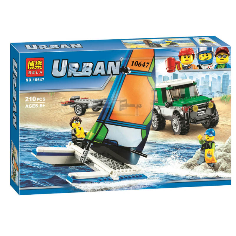 Lepin 60149 Pogo Bela 10647 Urban City Catamaran Building Blocks Bricks Compatible legoe Toys Gifts for Children Model decool 3114 city creator 3in1 vehicle transporter building block 264pcs diy educational toys for children compatible legoe