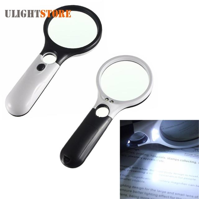 9cd07f07d9 Mini bolsillo iluminado lupa de mano reloj de lectura reparación joyería lupa  LED lámpara con múltiples