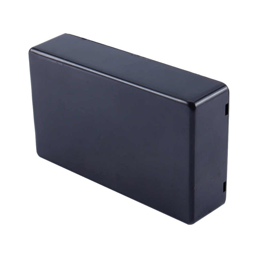 防水プラスチック黒 Diy 住宅楽器ケースボックスプロジェクト楽器電子ケース用品 100 × 60 × 25 ミリメートル