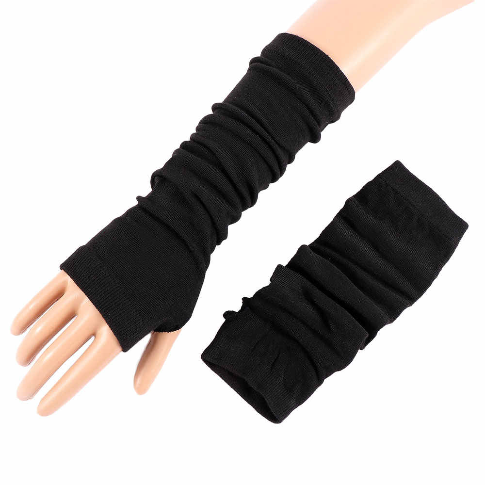 1 คู่ถุงมือผู้หญิงฤดูหนาวมือข้อมือแขนถักถุงมือยาว Fingerless นวมถุงมือคุณภาพสูงผู้หญิง