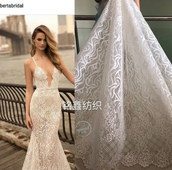 High Quality African Laces Fabrics Embroidered African  French Lace Fabric 2018 African French Net Lace for wedding dresses