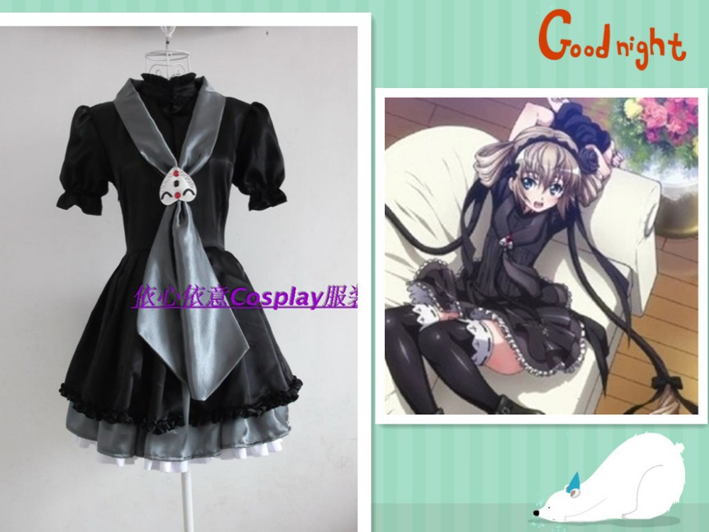 Seikon no Qwaser The Qwaser of Stigmata Cosplay Costume Anime Lolita Party Black Dress Skirt Any Size Women Clothing NEW