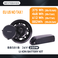 Bafang motor BBS01B BBS01 250W electric bike conversion kit batterie velo battery 36V 10.4/13/17/24.5ah mid drive motor